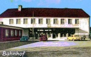 Fröndenberg, Bahnhof, Postkartenausschnitt 1967
