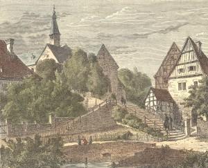 Stiftstreppe, älteste Stadtansicht um 1875 Variante 3