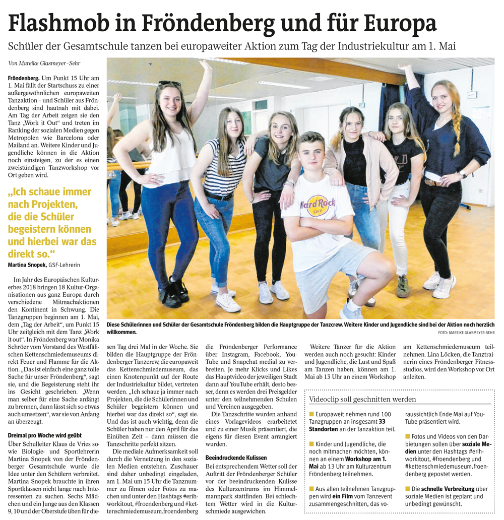 Flasmob in Fröndenberg